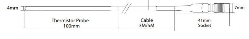 J095 Thermistor probe Hanwell