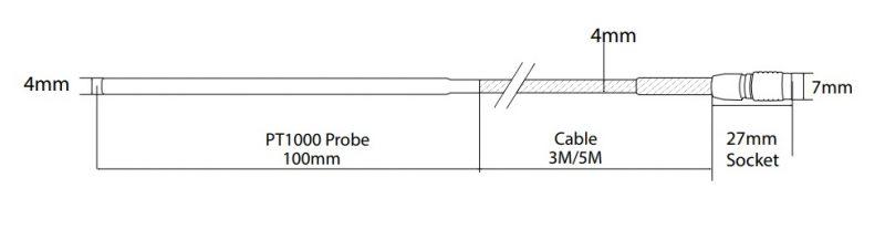 J182 PT1000 Probe Hanwell