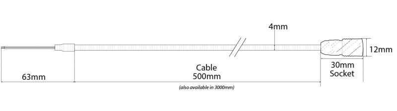 Analogue Transmitter Connection Cable Technical Drawing