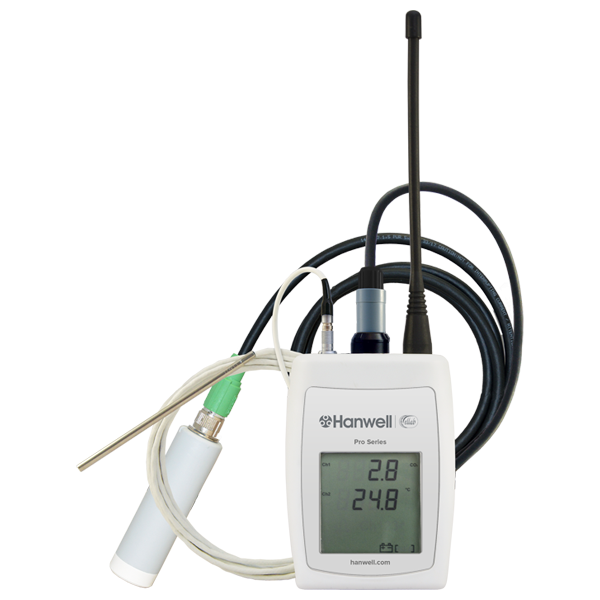 RL4512 wireless co2 and thermistor logger co2 monitor