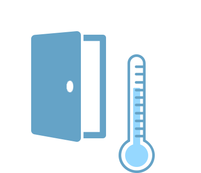Temperature & door sensor measurements
